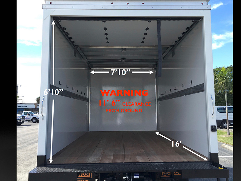 16 Box Truck With Lift Gate Akers Truck Rental