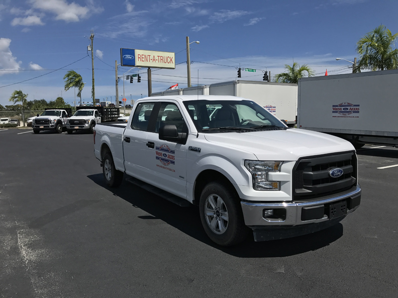 f 150 crew cab pick up with tow package 4 door akers truck rental. Black Bedroom Furniture Sets. Home Design Ideas
