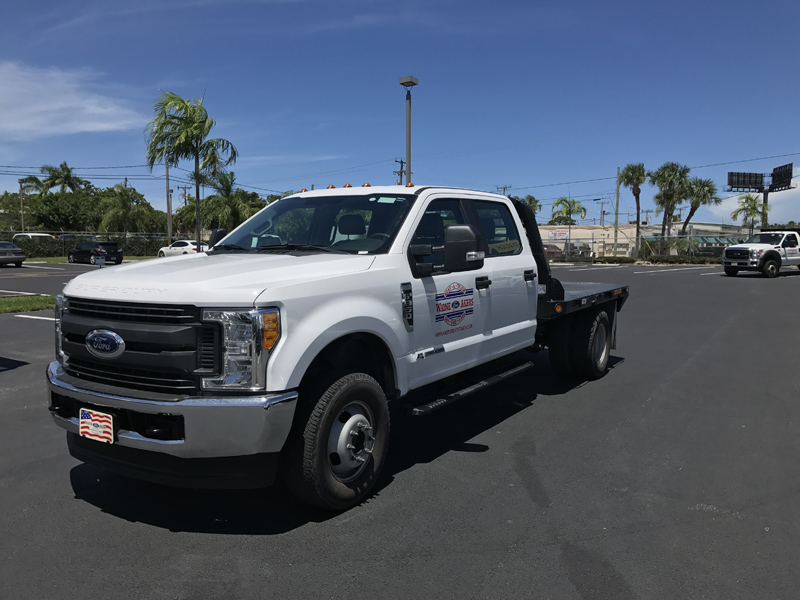 F 350 9 Crew Cab 4x4 Diesel Flat Bed With Multiple Tow