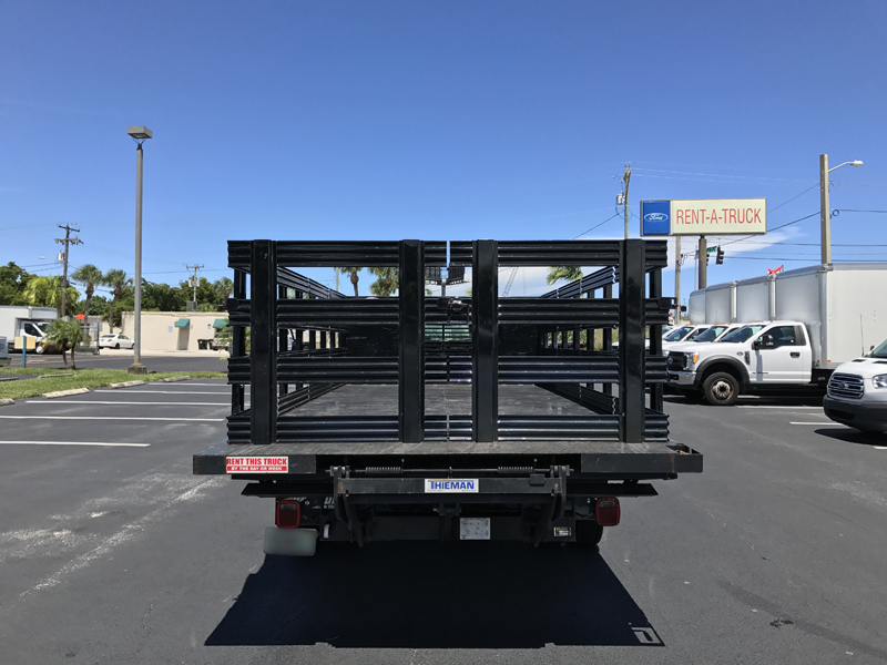 F 550 16 Flat Bed With Tuck Away Lift Gate Akers Truck